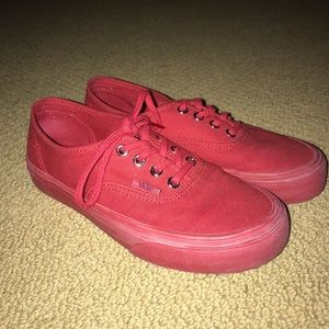 Vans All Red Authentic Sneakers